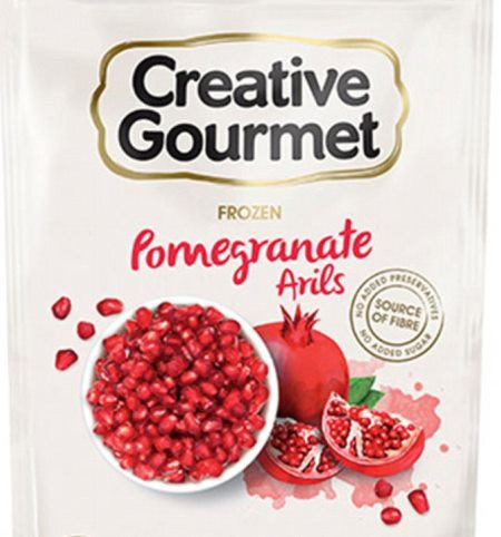 Packet of Creative Gourmet frozen pomegranate arils