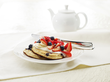 Banana berry pikelets